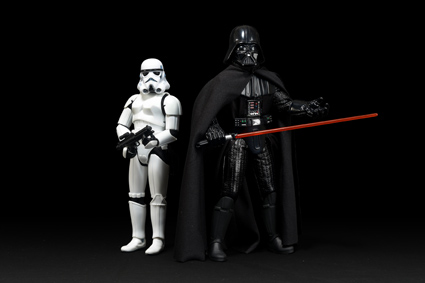 """Stormtrooper, 12"""" Doll, 2004 Electronic Darth Vader, Collector Series, 1997"""
