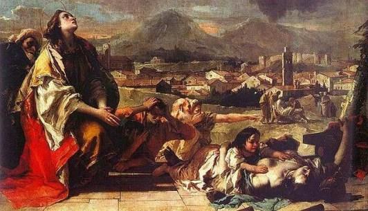 Santa Tecla libera Este dalla peste - Giovan Battista Tiepolo