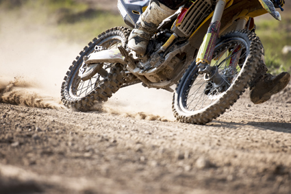 Motocross bike race speed and power in extreme man sport ,sport action concept