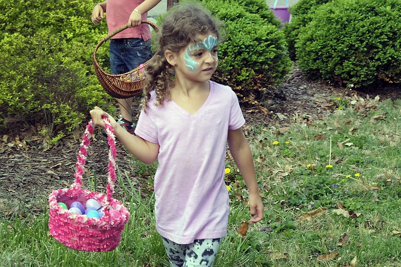 Great fun at egg hunt, book swap
