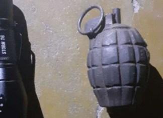 Granada das Forças Armadas encontrada em casa na região Metropolitana de Belo Horizonte