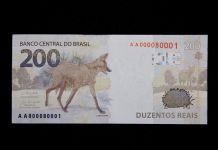 Banco Central divulga nova cédula de 200 reais