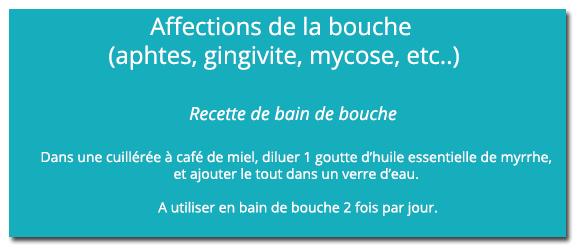 Recette affection buccale - 580 x 250