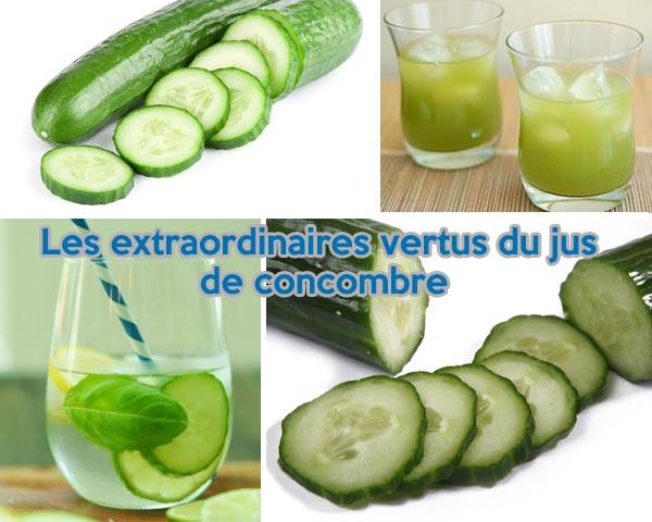Les vertus du jus de concombre - 600 x 480