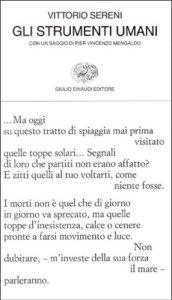 Gli strumenti umani - Vittorio Sereni