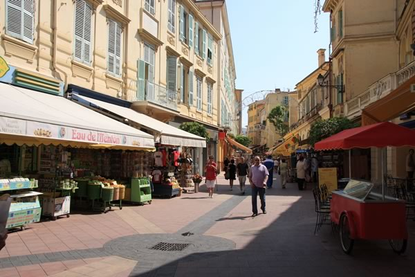 Photo De La Rue Pitonne Menton