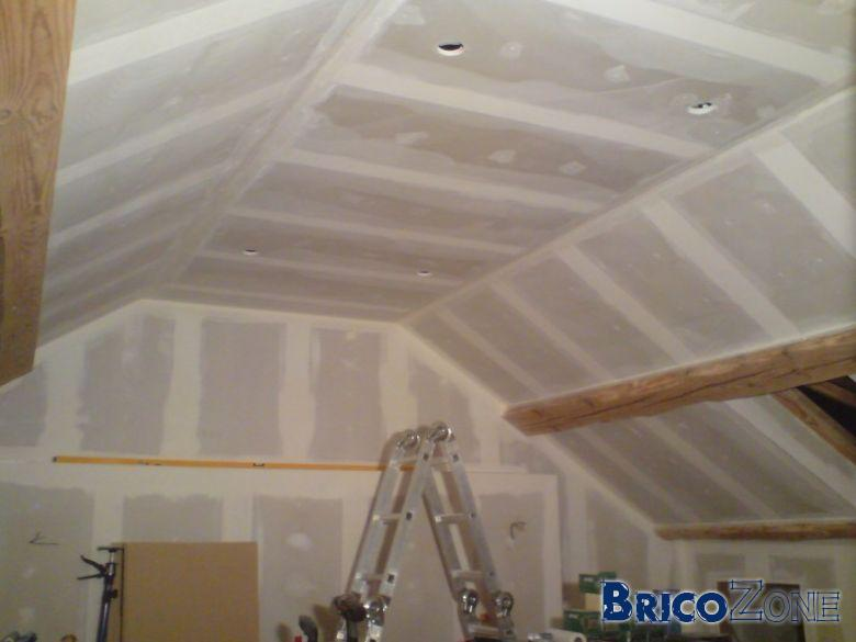 Faux plafond gyproc joint  Menuiserie image et conseil