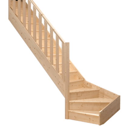Menuiserie Philippe ROUGIE - escalier bois quart tournant