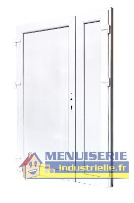 porte de service pvc pleine tierce ht205 x lg 140 cm