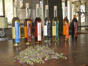 Digestive herbal liqueurs from the Alps