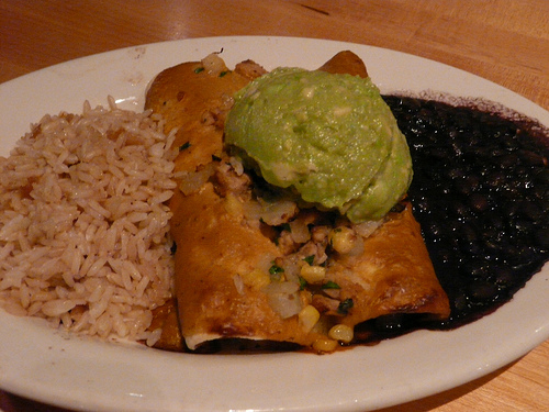 Tempeh Enchiladas from Mother's Café. Photo by Yvonne Smith