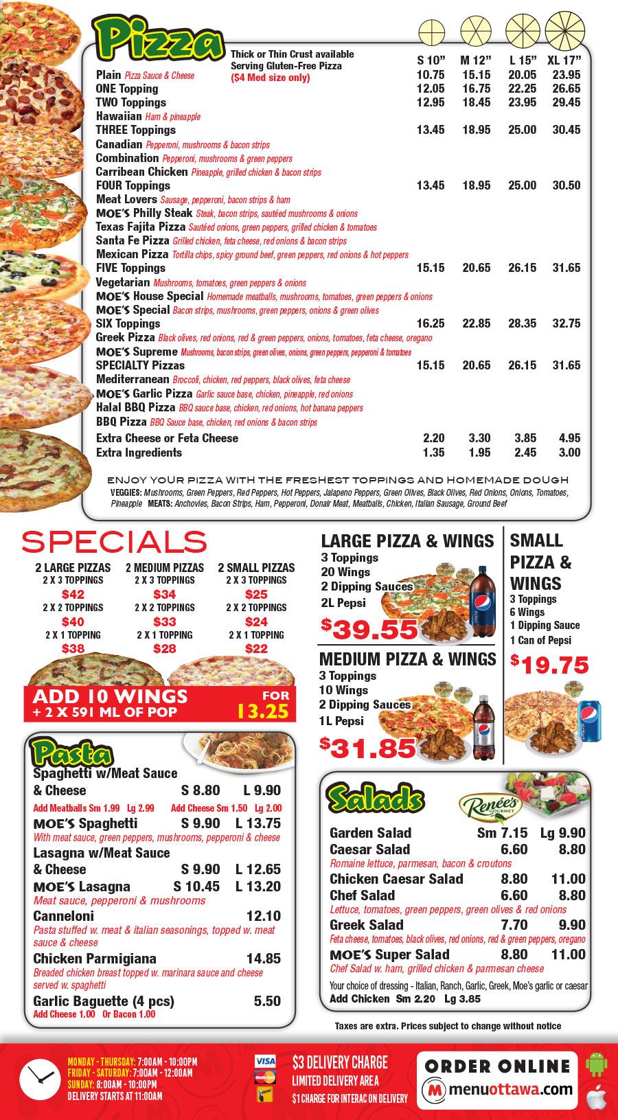Moe's Famous Pizza - 102B McEwen Ave Order Online!