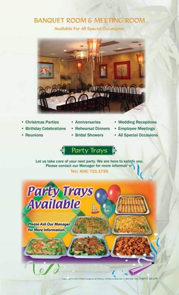 Menu of Pagoda Chinese Food in Missoula MT 59802