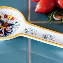 Kitchen Spoon Rest Showrooms Nyc Deruta Ceramic