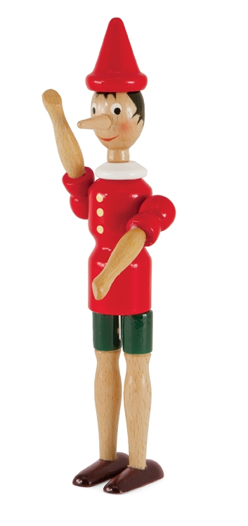 Wooden Pinocchio Doll from Italy