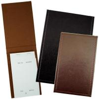 Faux leather pad holder / waitress notepad