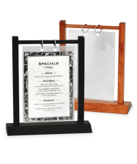 Wooden Double Post Menu Holder