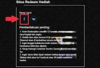 Cara Menukar Kode Redeem FF