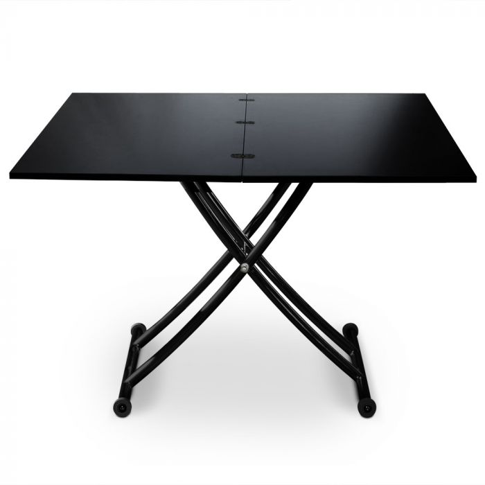 table basse relevable carrera noir carbone