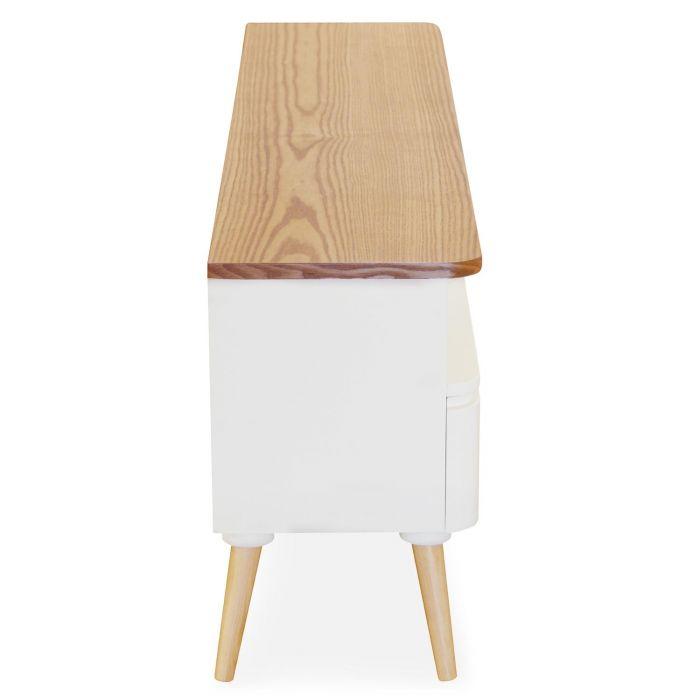 meuble tv scandinave bergen bois et blanc