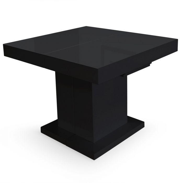 table extensible mustang noir laque