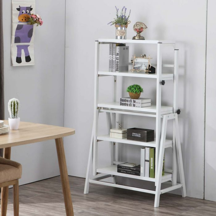 table bibliotheque transformable gain de place clever blanc