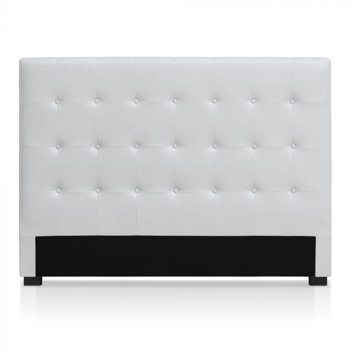 tete de lit luxor 160cm blanc