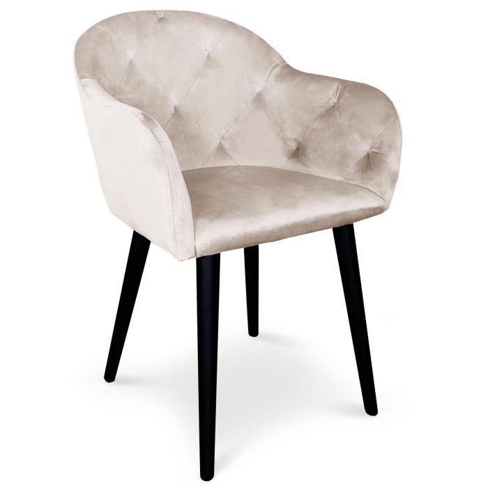 chaise fauteuil honorine velours beige