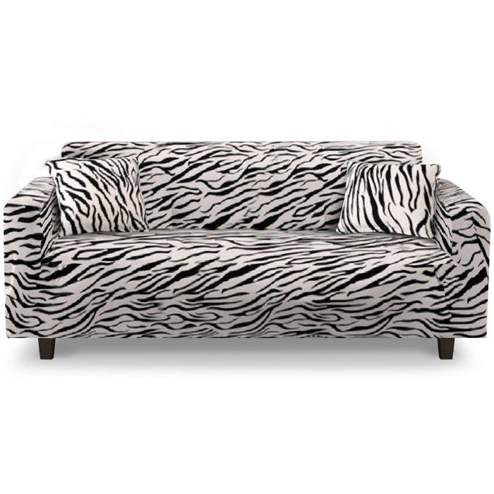 housse de canape d angle extensible decoprotect 2 3 places zebra