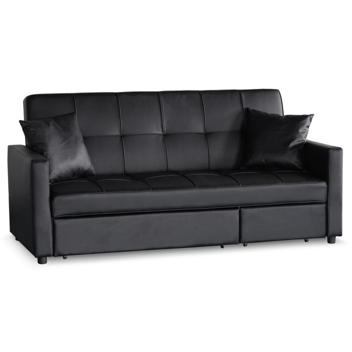 canape convertible 3 places julieta noir