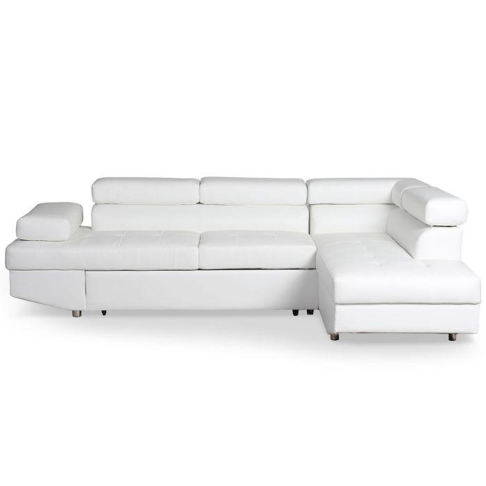 canape d angle convertible lido blanc