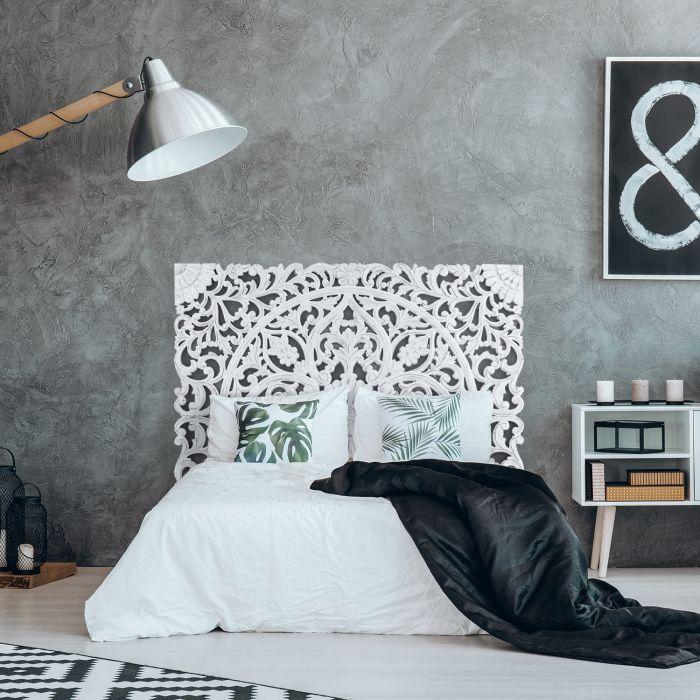 tete de lit serena 160cm bois blanc