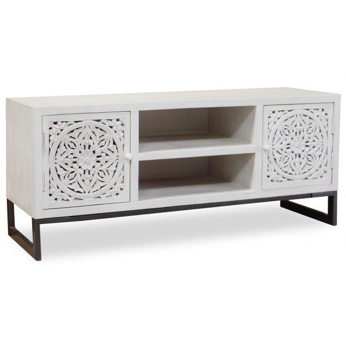 meuble tv serena blanc