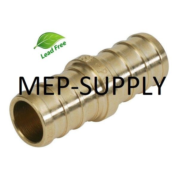 "Brass Crimp Fitting LEAD-FREE 1/"" PEX Coupling"