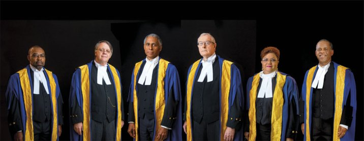 The CCJ Bench. Photo courtesy The Caribbean Court of Justice