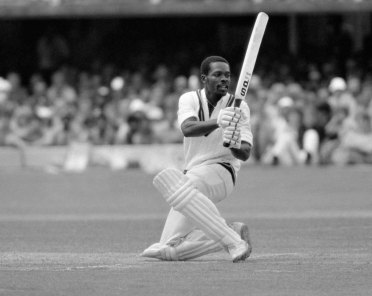 Collis King batting for the West Indies during the World Cup Final between England and West Indies at Lord's Cricket Ground in London, 23rd June 1979. The West Indies won by 92 runs. (Photo by Phil Sheldon/Popperfoto via Getty Images/Getty Images)