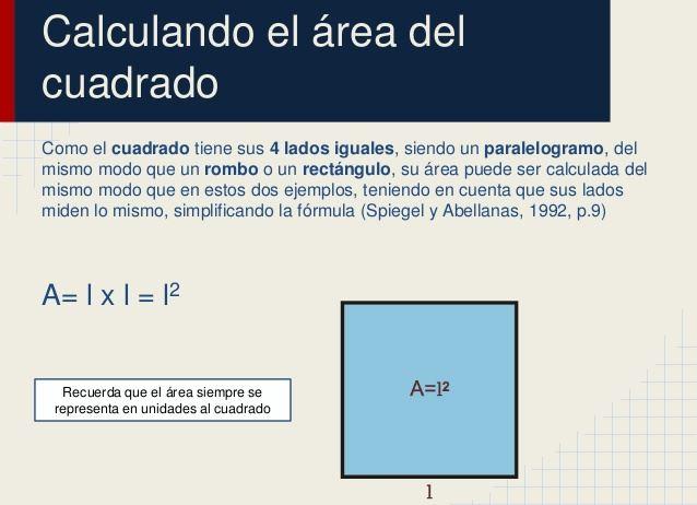 Calcular el Área del Cuadrado