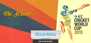 World Cup Cricket 2015 Schedule