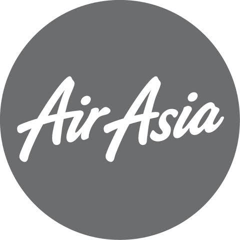 Logo Air Asia Berduka Berwarna Abu-Abu (Fanspage FB Air Asia)