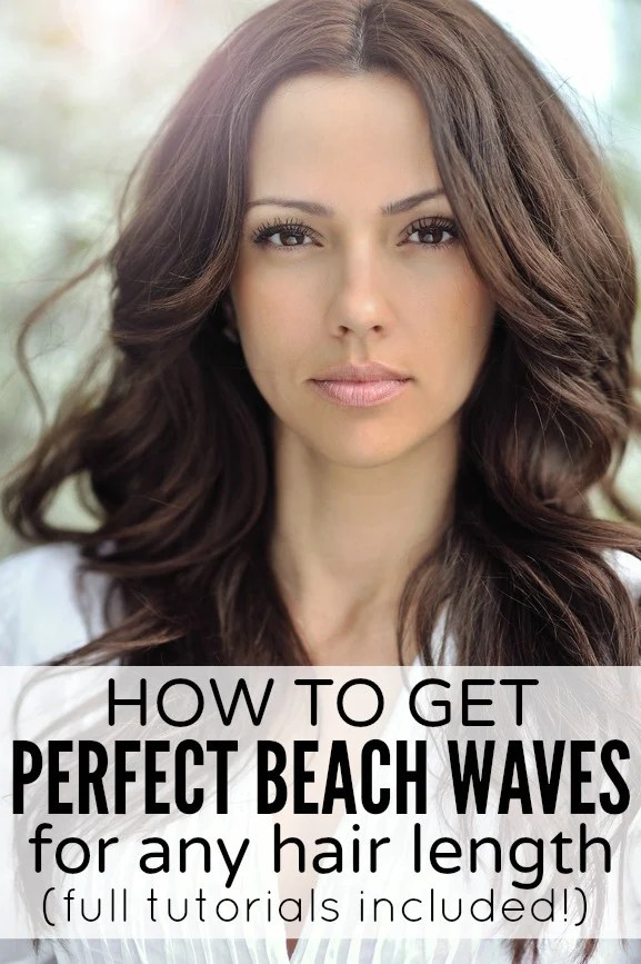Whether you have long hair, medium hair, should-length hair, or short hair, prefer using a flat iron, curling wand, or no heat at all, this collection of tutorials will teach you how to get those perfect DIY beach waves we all love. We've included techniques for all hair lengths, different types of looks (messy, loose, etc.), and a couple of overnight options. Looking sexy has never been easier!