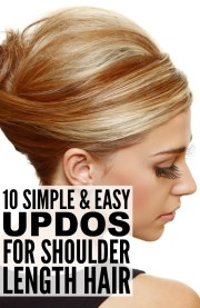 simple updos shoulder length