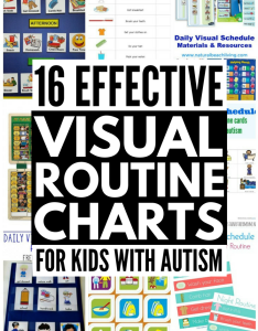visual schedules for kids with autism if you have  learner and also routine chart ideas learners rh merakilane