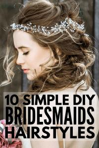 10 Easy Bridesmaid Hairstyles for Long Hair | Meraki Lane