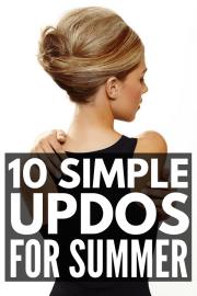 simple updos shoulder length