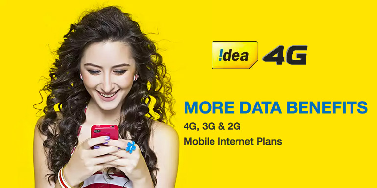 Idea 4G 3G Data Plans