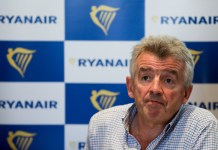 Ryanair sindicatos