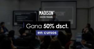 Participa del concurso y gana 50% de descuento en los cursos que presenta Madison MK