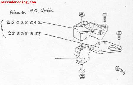 Soporte motor citroen ax