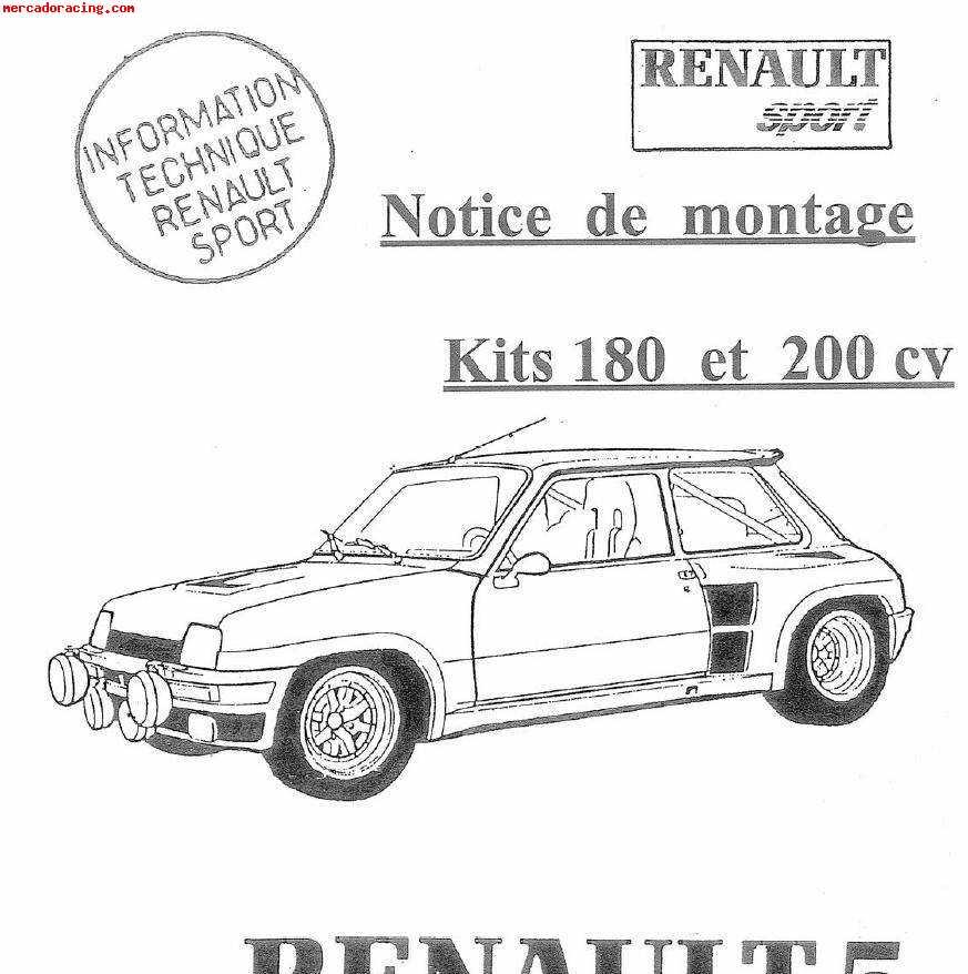 vendo dossier de preparación del renault 5 turbo 1 y 2, 180c