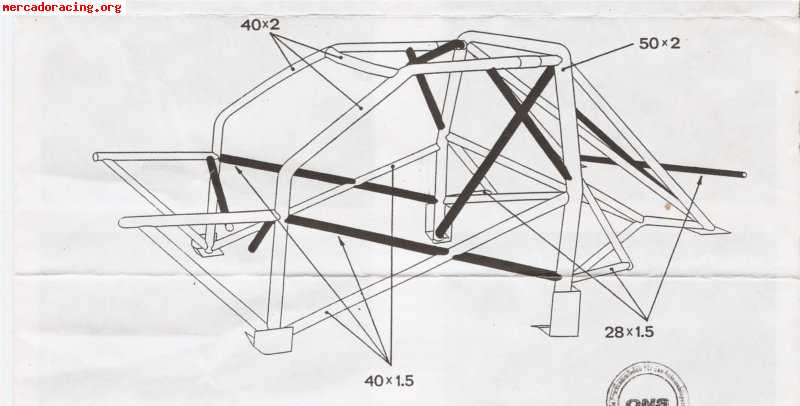 Carrocería M3 286v, documentación al día con arco Sparco